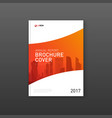corporate brochure cover design layout vector image