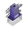 database server isometric storage information vector image vector image