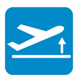 departure take off plane icon simple vector image vector image