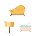 design of furniture and apartment icon set vector image vector image