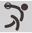 discus throw icon vector image