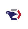 falcon eagle logo vector image vector image