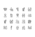 father line icons signs set outline vector image vector image