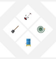 flat icon garden set of grass-cutter container vector image vector image