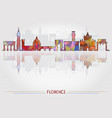 florence city background with cityscape silhouette vector image
