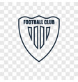 football club concept linear icon isolated on vector image