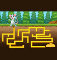 game mouse maze find way to the cheese vector image vector image