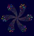 gear cyclonic explosion vector image vector image