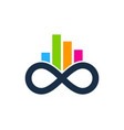graph infinity logo icon design vector image