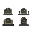 grave headstones set vector image