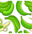green banana fruit pattern vector image vector image
