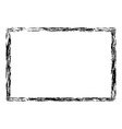 Grunge distressed rough frame or border vector image vector image