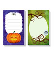 halloween card templates3 vector image