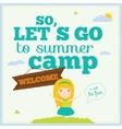 happy kids on summer background vector image vector image