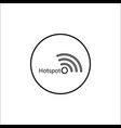 hotspot line icon mobile sign and wifi zone vector image