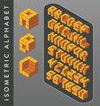 Isometric Alphabet vector image