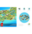 isometric global logistics composition vector image