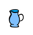 jug doodle icon on white background vector image vector image