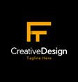 letter ft creative business logo design vector image vector image
