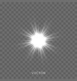 light shine star flash sparkles lens flare effect vector image vector image