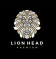 lion head ornamental logo icon vector image
