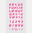 love alphabet and numbers shiny bright colored vector image