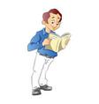 man reading a book vector image