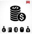 money dollar icon vector image