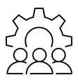 monochrome organizational matters icon vector image vector image