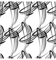 monochrome pattern from black lines for vector image vector image