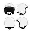 motorcycle helmet template vector image vector image