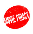 movie piracy rubber stamp vector image vector image