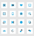 music colorful icons set collection of decrease vector image vector image
