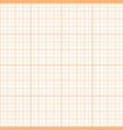 orange inch graph paper seamless pattern vector image vector image