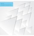 Paper triangels backgorund vector image vector image