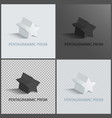 pentagrammic prisms isolated on black and white vector image vector image