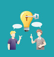 people sharing ideas for solve problems vector image vector image