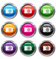 photo camera set 9 collection vector image vector image
