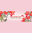 red astromelia romantic floral advertising vector image