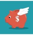 save the money piggy with wings vector image