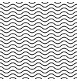 seamless wavy pattern black thin lines on white vector image