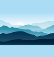 silhouettes mountains with fog forest vector image vector image