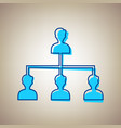 social media marketing sign sky blue icon vector image vector image