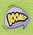 speech bubble with boom word comic pop art vector image vector image