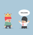 The customer is king vector image vector image