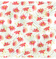 tropical flower seamless pattern background vector image vector image