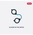 two color slavery in united states icon from vector image vector image