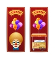 Two vertical circus banners vector image vector image