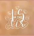 valentine hand lettering title vector image