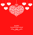 valentine label red vector image vector image